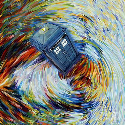 Fandom Painting - Time Vortex Abstract by Three Second
