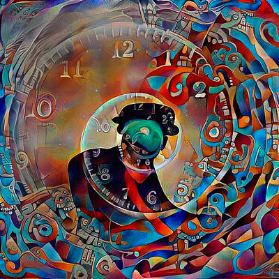 Digital Art - Time Vortex by Bruce Rolff