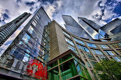 Photograph - Time Warner Buildings At Columbus Circle by Val Black Russian Tourchin