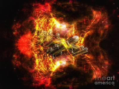 Digital Art - Time Warp by Isabella F Abbie Shores