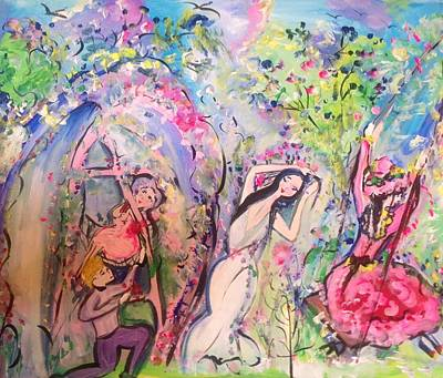 Painting - Time Will Tell Garden  by Judith Desrosiers