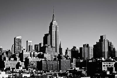 White And Black Landscapes Photograph - Timeless - The Empire State Building And The New York City Skyline by Vivienne Gucwa