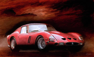 Ferrari 250 Gto Digital Art - Timeless 250 Gto by Peter Chilelli