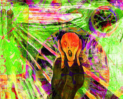 Timeless Art The Scream 20160305 Horizontal Art Print by Wingsdomain Art and Photography