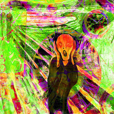 Timeless Art The Scream 20160305 Square Art Print by Wingsdomain Art and Photography