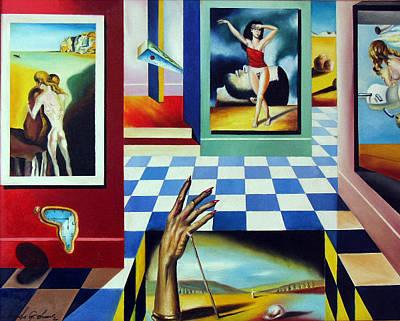 Crutch Painting - Timeless Dali Series 2 by Leonardo Zhang