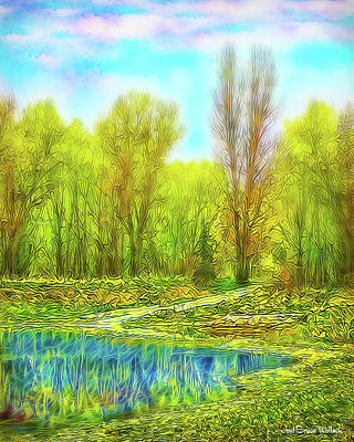 Digital Art - Timeless Lake Reflections - Park In Boulder County Colorado by Joel Bruce Wallach