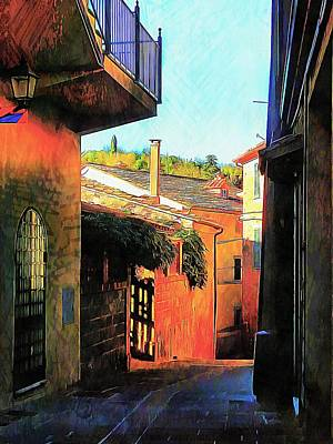 Photograph - Timeless Passageways Panicale Umbria by Dorothy Berry-Lound
