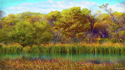 Digital Art - Timeless Pond by Joel Bruce Wallach