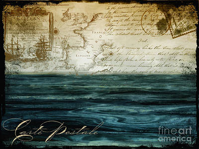 Maps Painting - Timeless Voyage II by Mindy Sommers