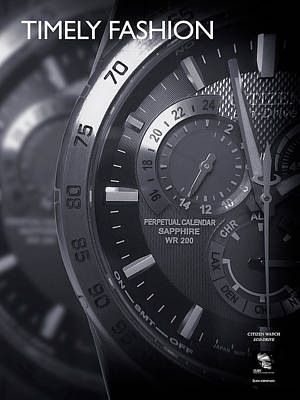 Photograph - Timely Fashion Citizen Watch Eco Drive Series by ISAW Gallery