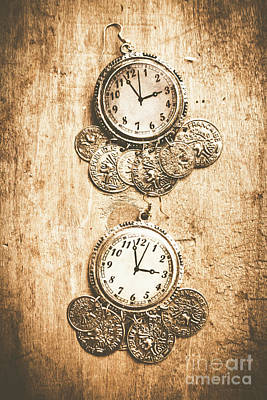 Timepieces From Bygone Fashion Art Print