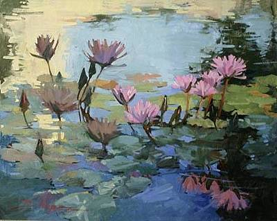 Betty Billups Painting - Times Between - Water Lilies by Betty Jean Billups