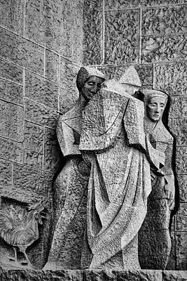 Curvilinear Photograph - Times Of The Denial - Passion Facade - Sagrada Familia by Nikolyn McDonald