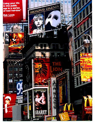 Times Sq Nyc Art Print