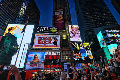 Photograph - Times Square # 11 by Allen Beatty