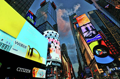 Photograph - Times Square # 2 by Allen Beatty