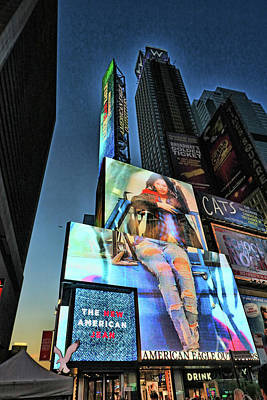 Photograph - Times Square # 6 by Allen Beatty