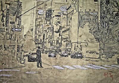 Times Square - That Man Art Print by Jacob  Hitt