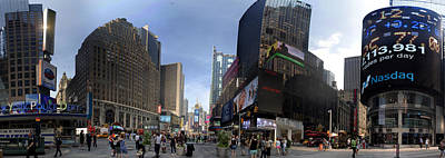 Photograph - Times Square 180 Degrees by Dave Beckerman