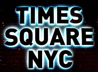 New York Photograph - Times Square 4 by NDM Digital Art