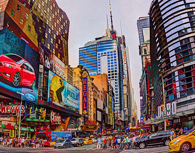 Photograph - Times Square 536 by Jeff Stallard