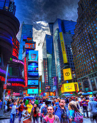 Photograph - Times Square 7453 by Jeff Stallard