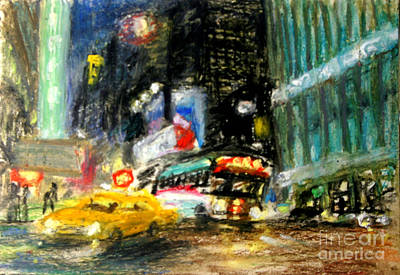 New York City Painting - Times Square  by Arthur Robins