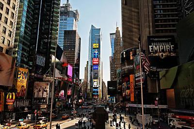 Night Scenes Photograph - Times Square by Benjamin Matthijs