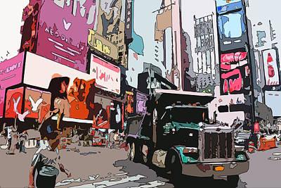 Times Square Digital Art - Times Square Birds by Alex Antoine