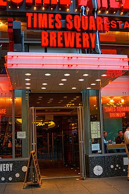 Photograph - Times Square Brewery by Mike Martin
