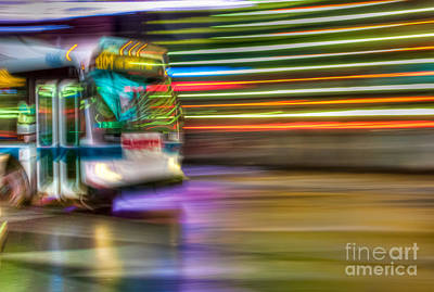 Times Square Bus Art Print by Clarence Holmes