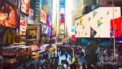 Painting - Times Square by Chris Armytage