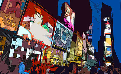 Times Square Art Print by Christopher Woods