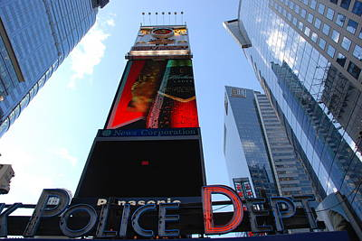 Times Square Cops Art Print by Rob Hans