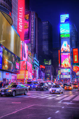 Photograph - Times Square  by David Pyatt