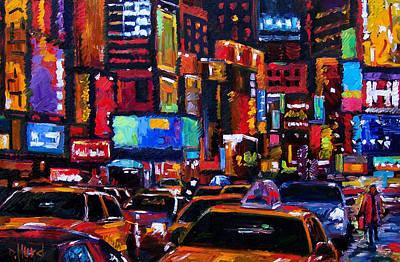 Times Square Art Print by Debra Hurd
