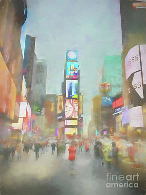 Photograph - Times Square by Erika Weber