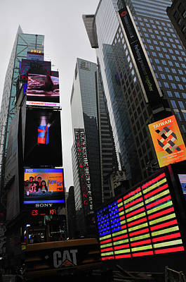 Photograph - Times Square Flag by Mike Martin