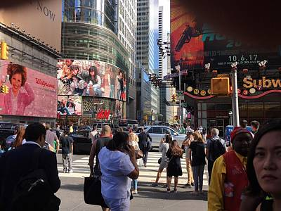 Photograph - Times Square IIi by Val Oconnor