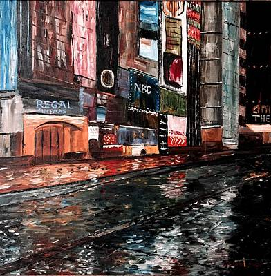 44th Painting - Times Square by Joe Christenson