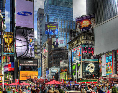 Phantom Dog Photograph - Times Square by Joe Paniccia