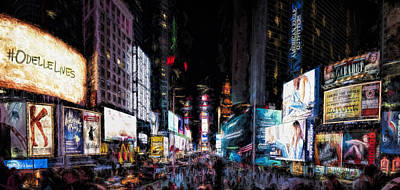 Painting - Times Square by Joe Sparks