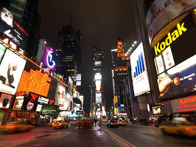 Times Square Art Print by John Gusky