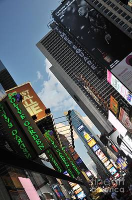 Photograph - Times Square by Louise Fahy