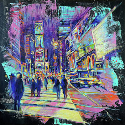 Broadway Painting - Times Square - Manhattan - Broadway - New York City - Pop Art Landscape by Damon Gray