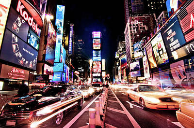 Times Square Photograph - Times Square, Manhattan, New York by Josh Liba