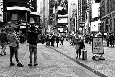 Times Square Moment Art Print by John Rizzuto