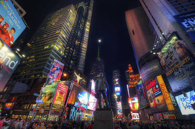 Times Square Moonlight Print by Yhun Suarez