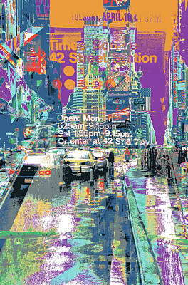 Times Square Morphine Art Print by Shay Culligan